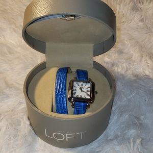 Ann Taylor Loft new blue wrap around watch